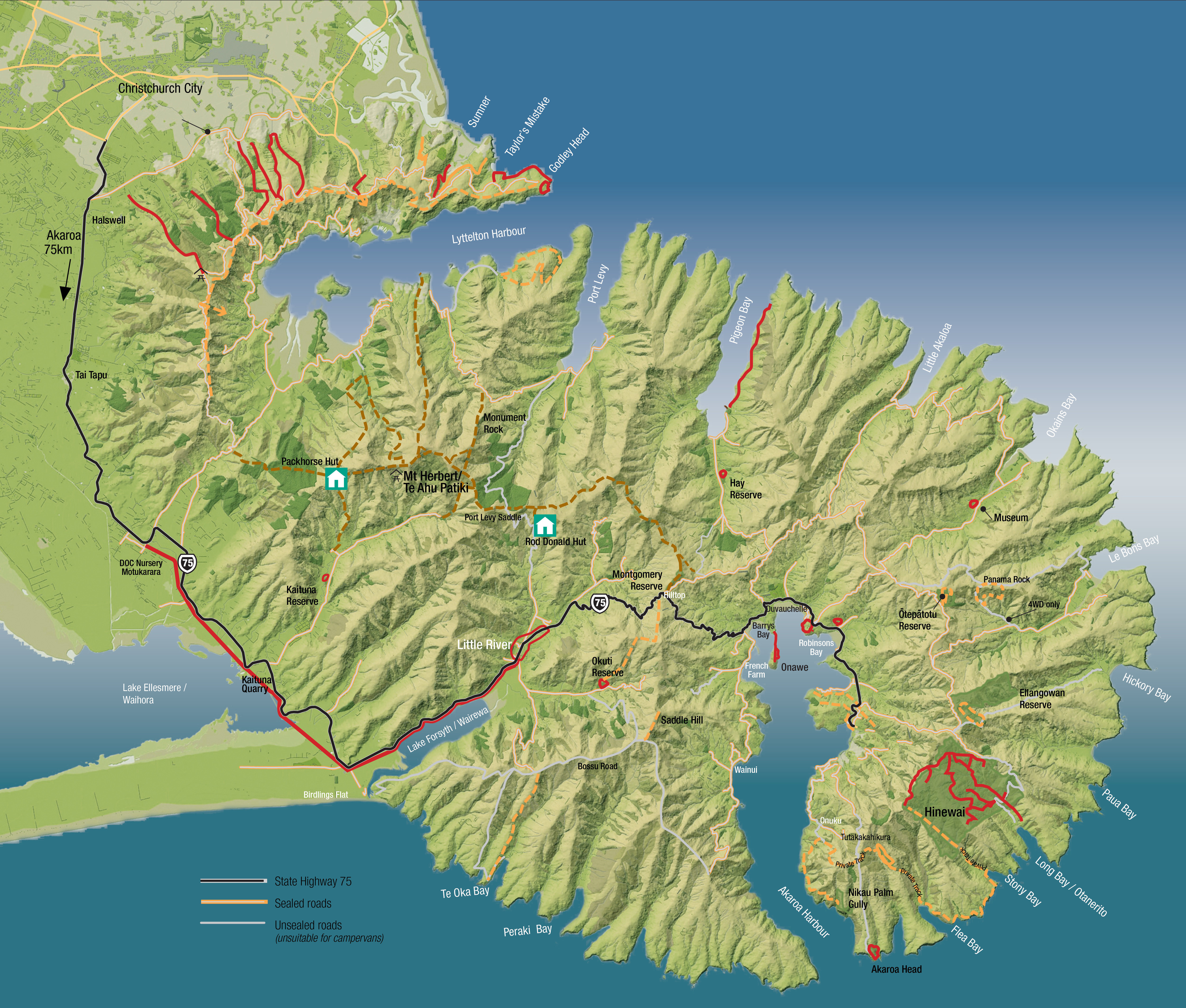 Greater Banks Peninsula walks